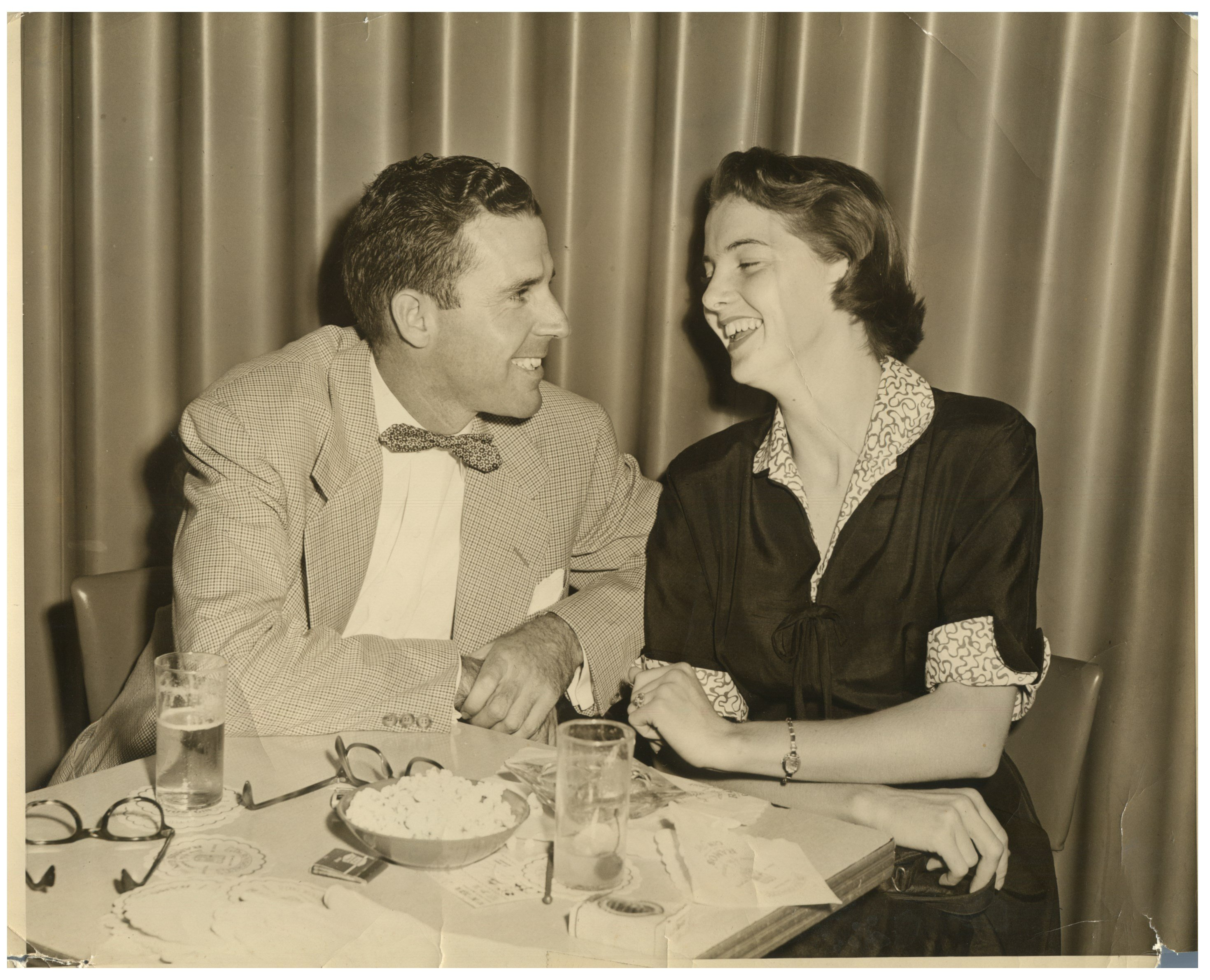 Shown are Darlene Flatt (right) and her husband Earl Flatt, who was the State Farm Insurance district manager.  In the 1950s, they moved to Lafayette from Tennessee.