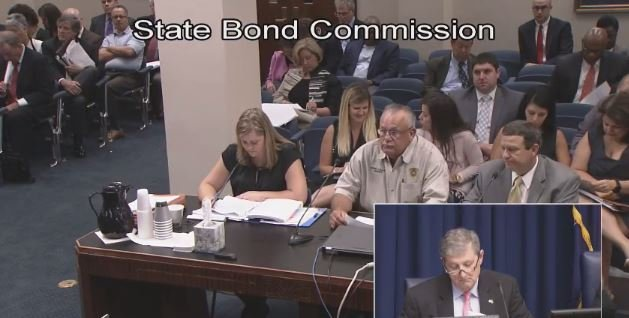 Evangeline Sheriff Eddie Soileau at the State Bond Commission
