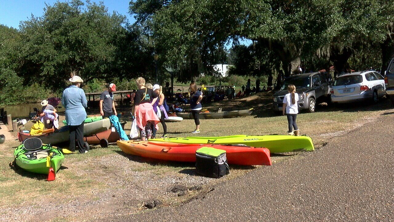 Canoers and kayakers head to the Bayou Teche National Paddle Trail.