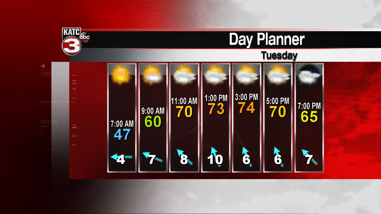 Chilly with a few light showers for Thanksgiving Day