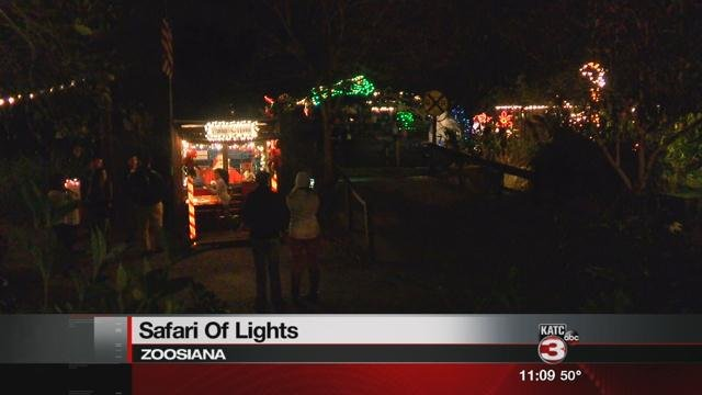 "Zoosiana lights up with their annual ""Safari of Lights"""