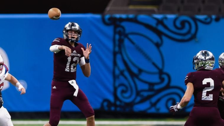 St. Thomas More QB Nate Cox (Photo Credit: Advocate Staff Photo)