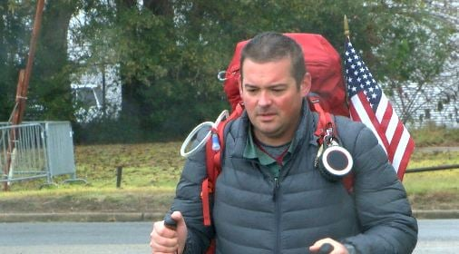 Army veteran Eli Smith travels the United States to raise awareness for those living with PTSD