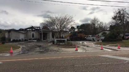 Mosque fire in Victoria Texas / Courtesy of CNN