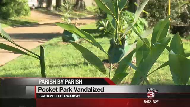 "Vandal's hit ""pocket park"" in Lafayette / KATC"