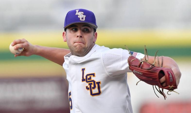 LSU Pitcher Alex Lange (Photo Credit: LSU Sports Information/Steve Franz)