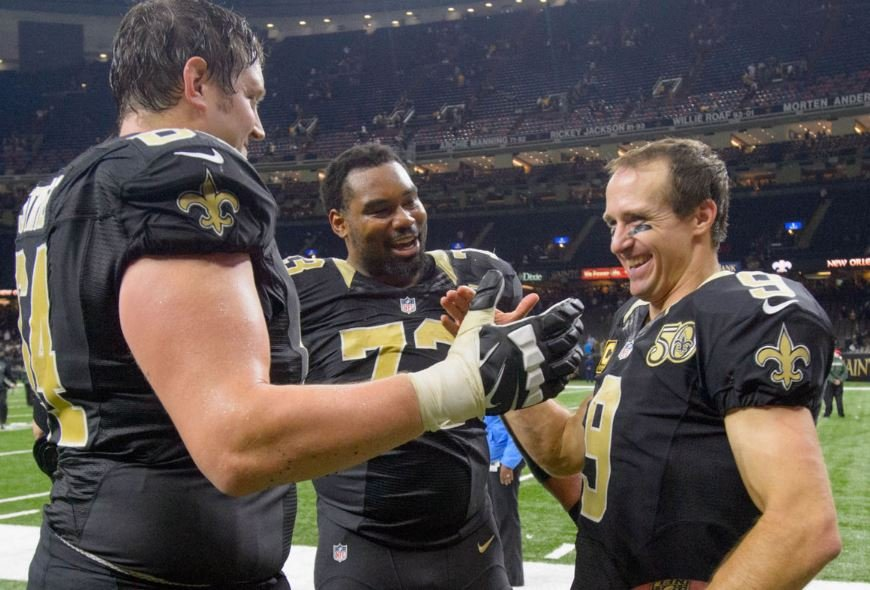 Saints celebrate a victory last season against Tampa Bay (Photo Credit: Advocate File Photo)