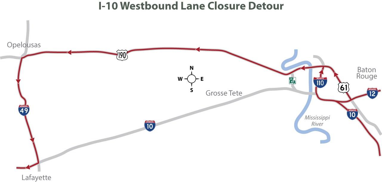 Westbound Detour