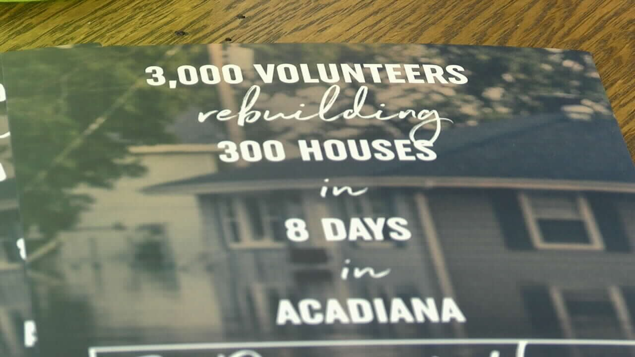 Eight Days of Hope is coming to Acadiana in June to help families who are still struggling after the August flood.