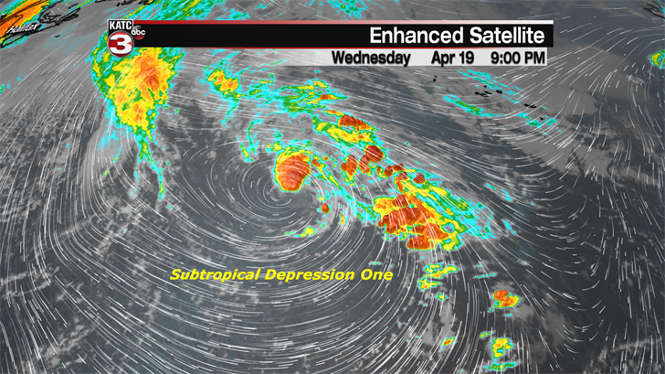 Subtropical Depression One forms in the Atlantic