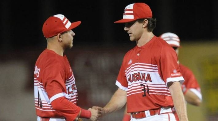 Louisiana's Brad Antchak and Wyatt Marks (Photo Credit: Louisiana Sports Information Department/Brad Kemp)