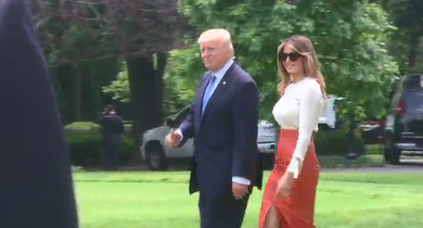 Trump and the first lady left for Saudi Arabia on Friday afternoon. / CNN