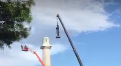 Robert E Lee monument removed