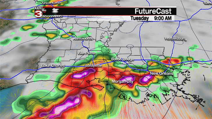 Storm Team 9: watch out for a passing afternoon shower today