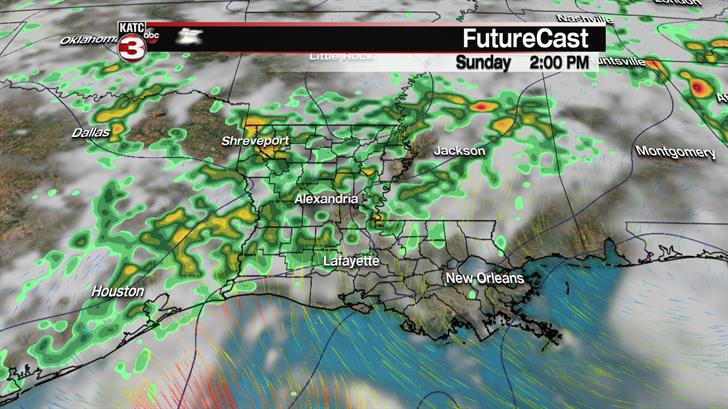 Rain chances continue through the weekend