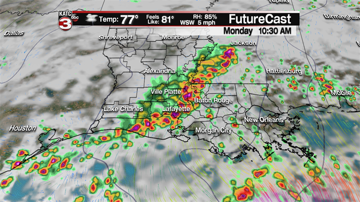 Wednesday forecast: Risk for storms all day