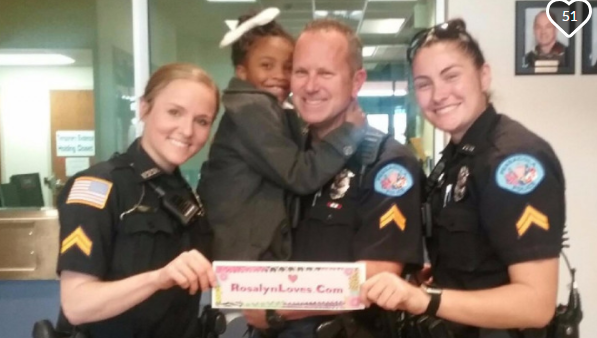 7-year-old girl travels country on 'tour' to hug police officers