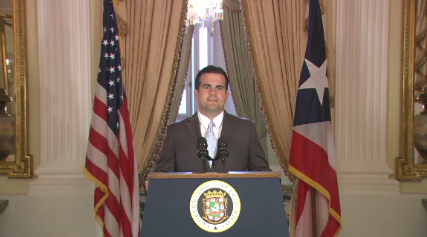 Governor of Puerto Rico Ricardo Rossello  Courtesy of CNN