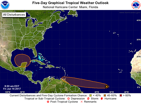 Tropical system moving toward Gulf coast