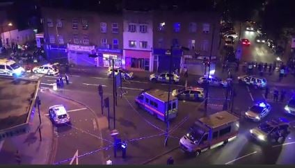 Vehicle hits people near London mosque, causing casualties / Courtesy: CNN Newsource