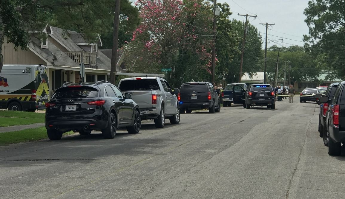 Scene of shooting on E. Lawrence Street