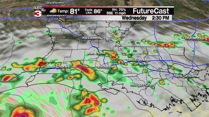 Forecast: Expect a rainy day in the Pine Belt
