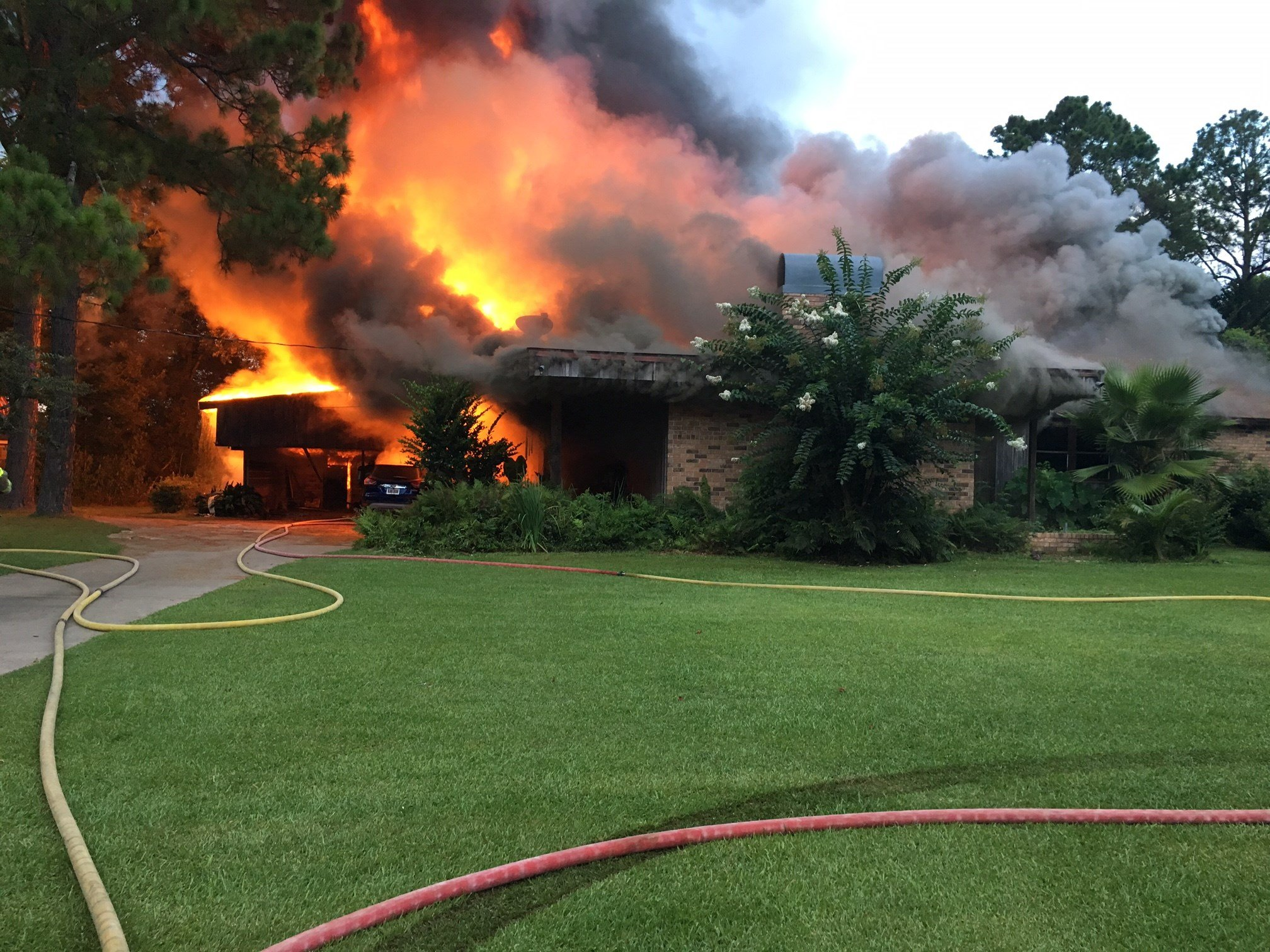 Fire tears through Sunset residence / Courtesy: Chadwick Primeaux