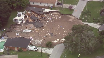 Land O' Lakes, Florida Sinkhole / Courtesy of CNN