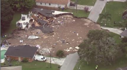 Land O' Lakes, Florida Sinkhole / Courtesy of CNN