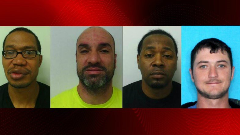 Four fugitives wanted by St. Landry Parish Sheriff's Office / SLPCS