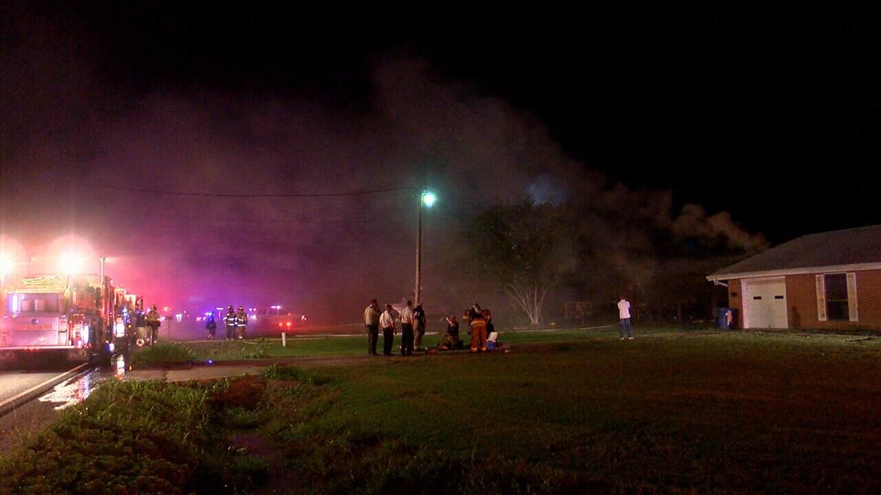 Fire tears through Lafayette home