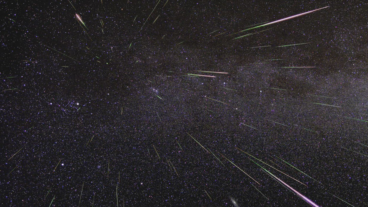 Image of Perseid Meteor shower from 2009 / Credits: NASA/JPL
