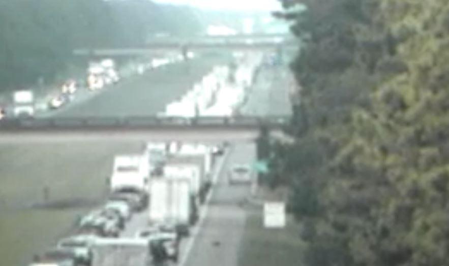Traffic congestion on I-10 East near Duson / DOTD