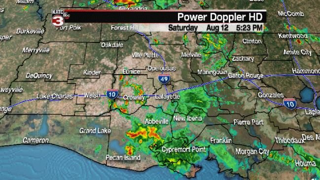 Strong storms produce heavy rain and gusty winds