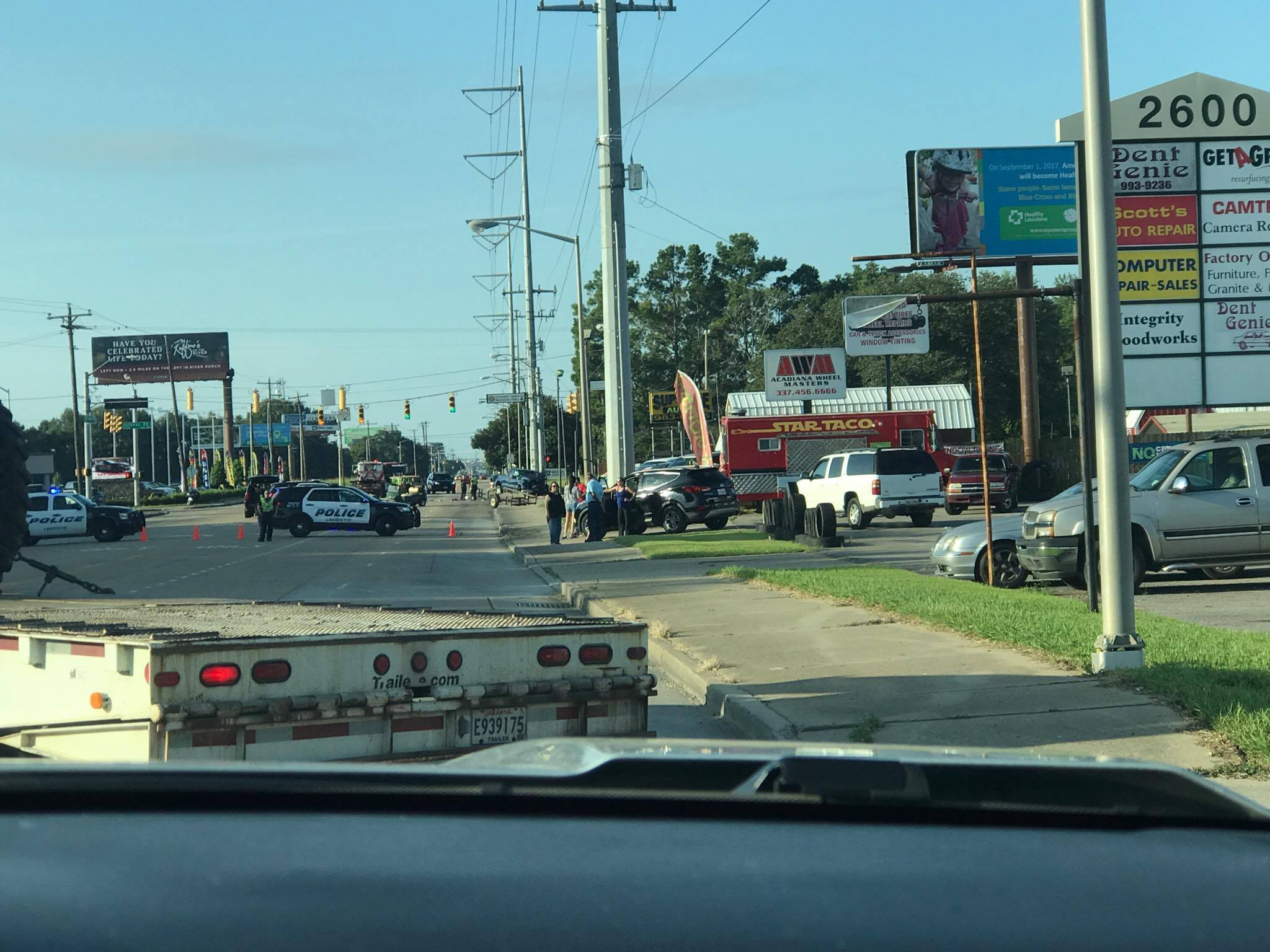 Reports of an ejection on Ambassador Caffery this morning / Courtesy: Manuel Lara-Cruz