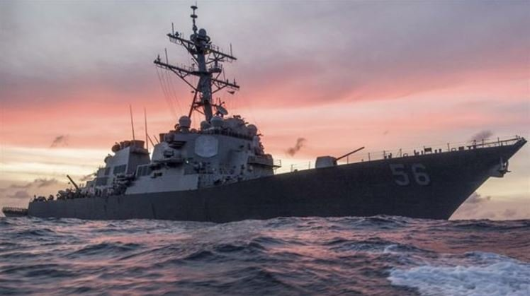 The USS John S. McCain conducts a patrol in the South China Sea, Jan. 22, 2017, while supporting security efforts in the region. Navy photo by Navy Petty Officer 3rd Class James Vazquez The USS John S. McCain conducts a patrol in the South China Sea