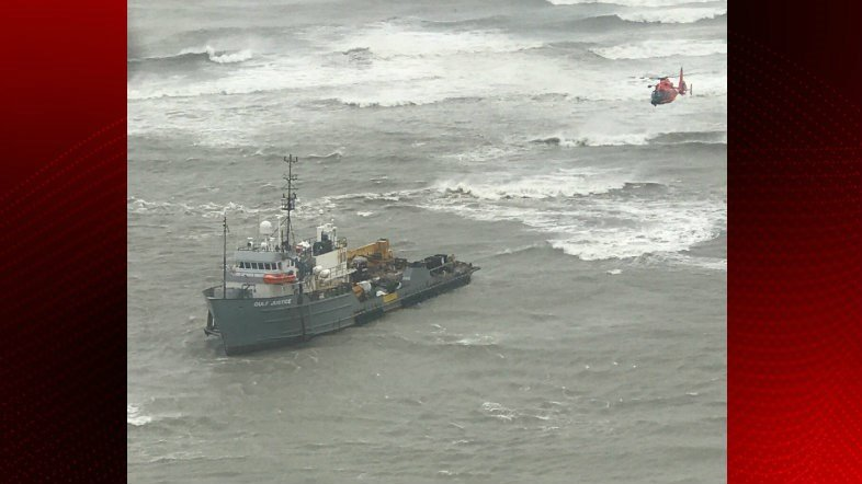Coast Guard rescues 15 stranded aboard vessels near Port Aransas