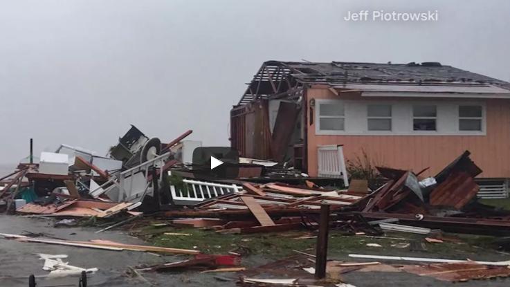 Damage in Rockport, TX courtesy Jeff Piotrowskivia CNN