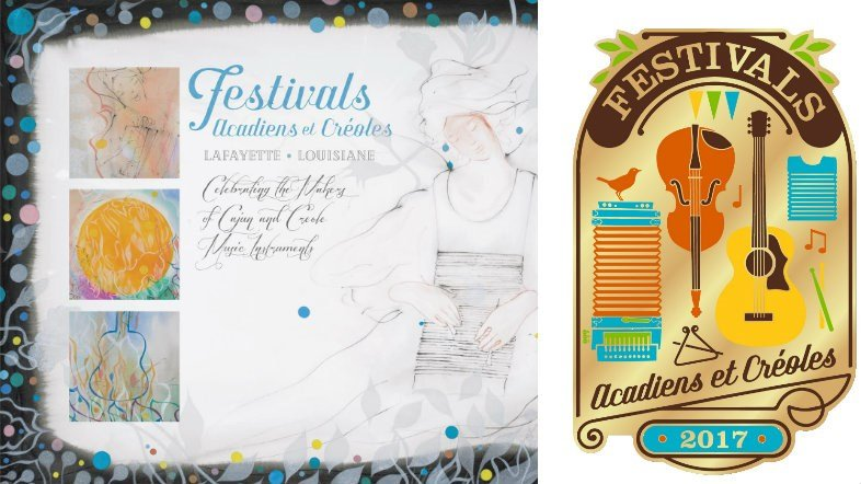 Poster and Pin for 2017 Festivals Acadiens et Creoles