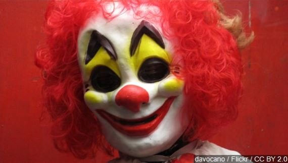 File photo of a clown mask