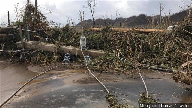 Puerto Rico reels as Hurricane Maria turns toward East Coast