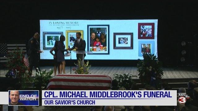 Cpl. Middlebrook funeral