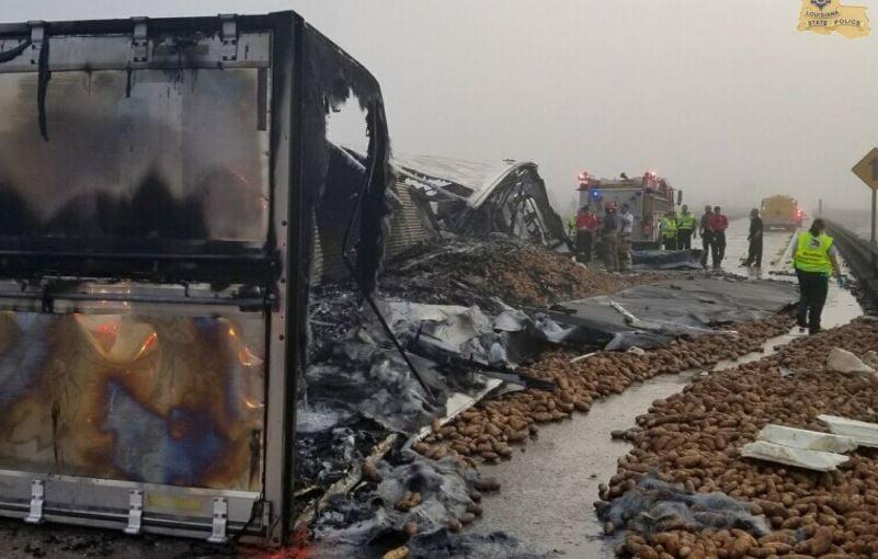 Fatal 18 Wheeler crash on I-10 / LSP