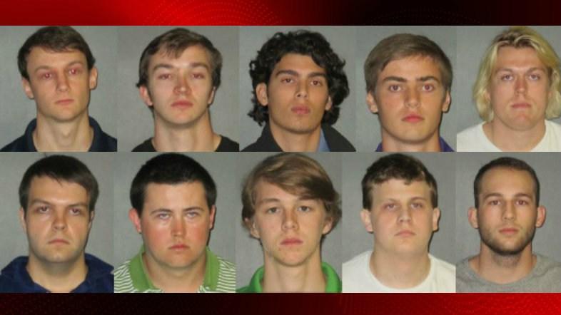 Top: Naquin, Hall, Castillo, Isto, Gott. Bottom: Eaton, Forde, Pennison, Kirkpatrick, Taulli