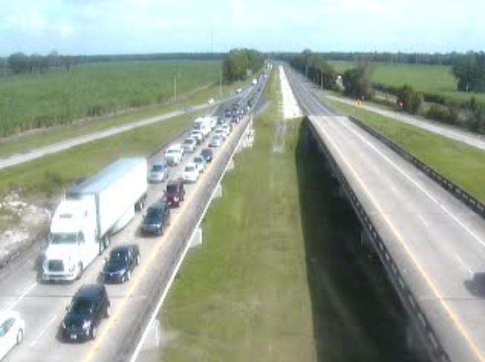 Congestion on I-10 West at Ramah
