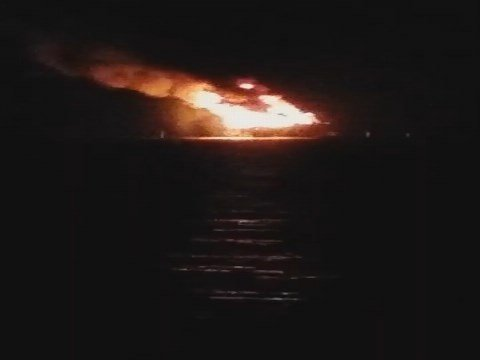 Oil rig explosion off the coast of Louisiana