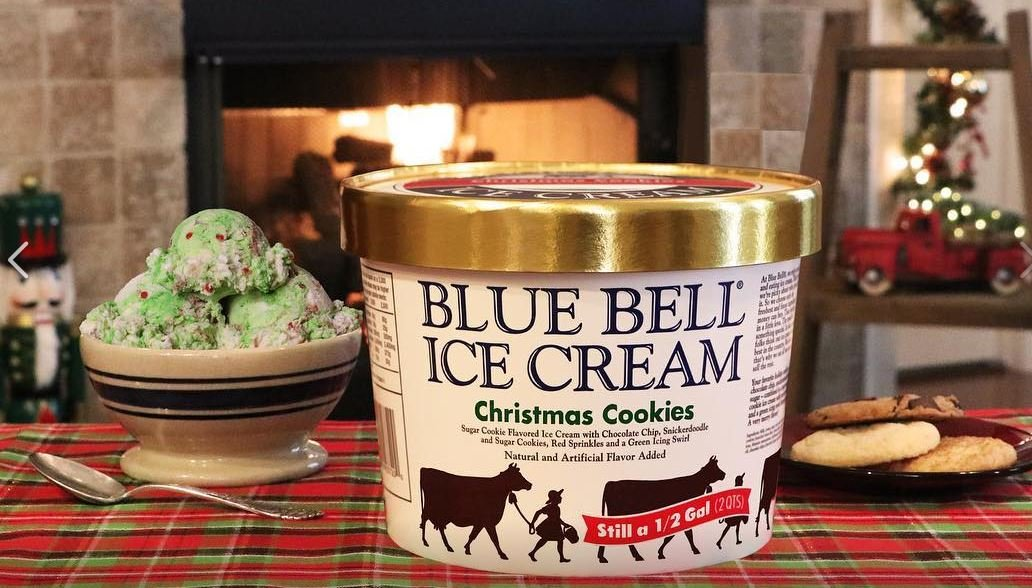 Blue Bell Christmas Cookies / Blue Bell Ice Cream