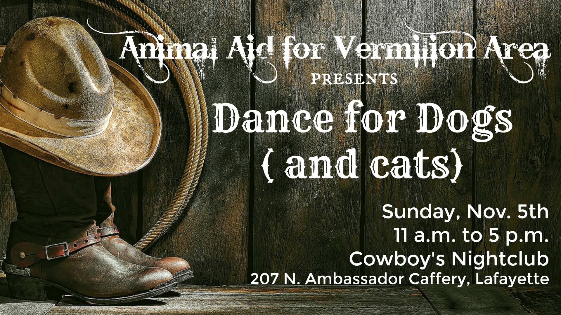 Dance for Dogs (and Cats) event / AAVA