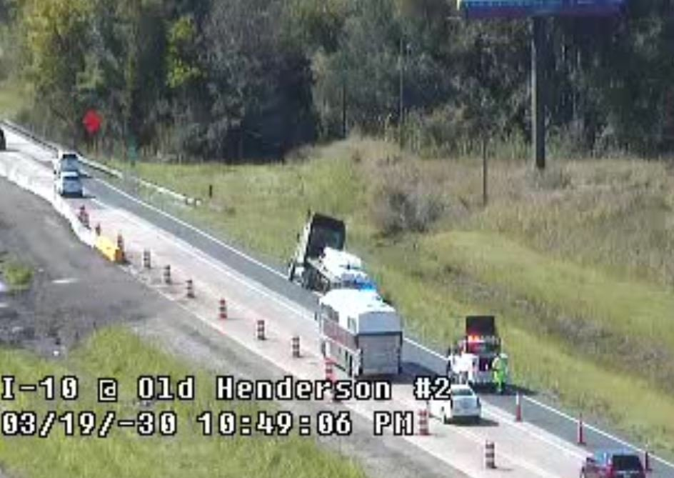 Congestion on I-10 W at Old Henderson