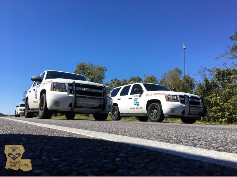 State Police on I-10
